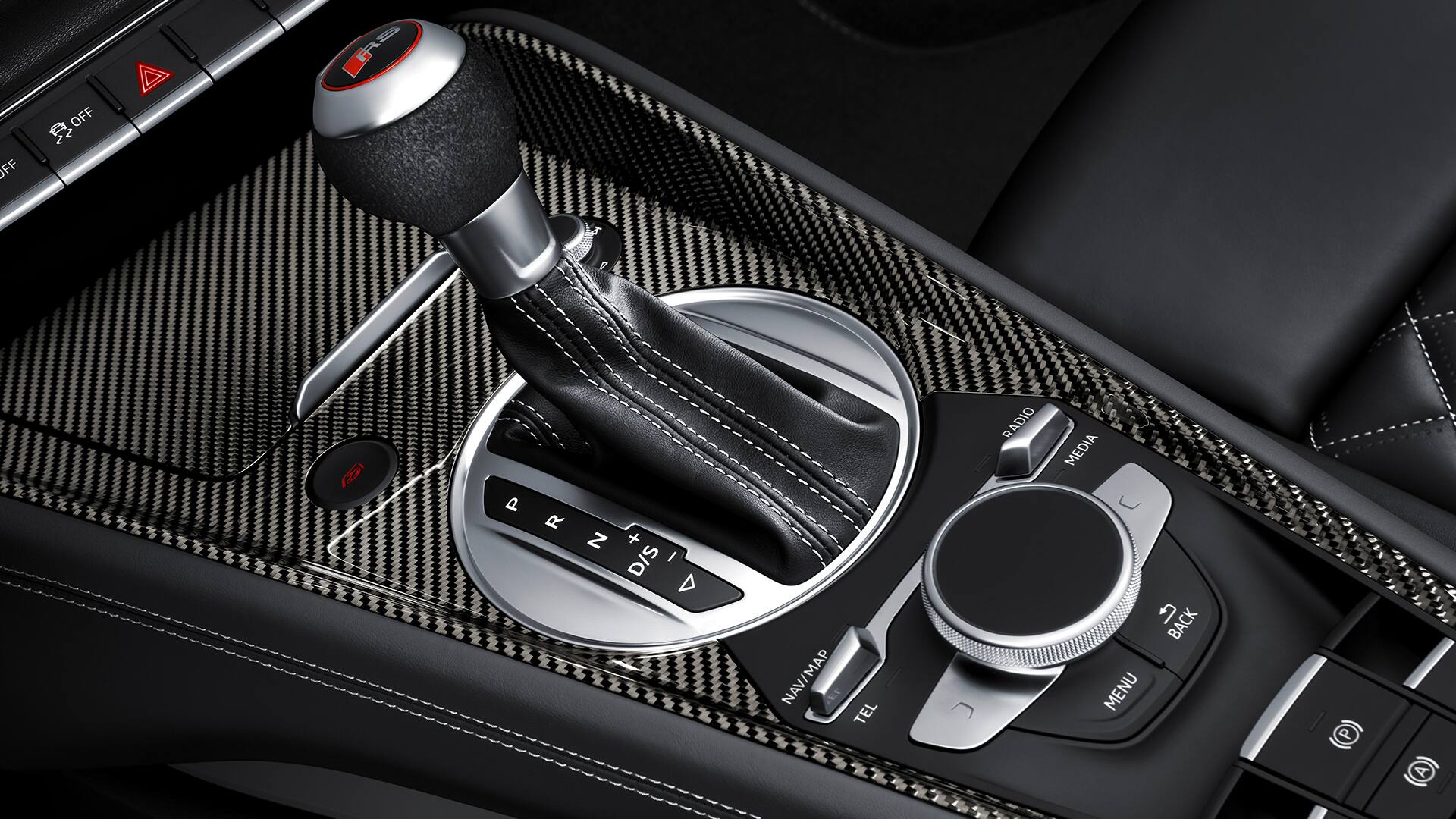 Center console Audi TT RS Coupé